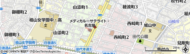 愛知県名古屋市千種区田代本通周辺の地図