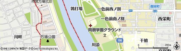 愛知県名古屋市中村区岩塚町(南鶉打場)周辺の地図