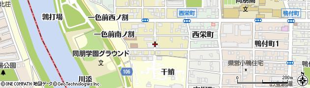 愛知県名古屋市中村区岩上町周辺の地図