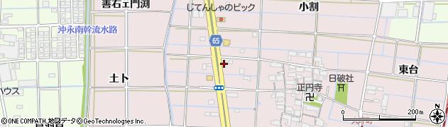 愛知県津島市大坪町(蛤田)周辺の地図