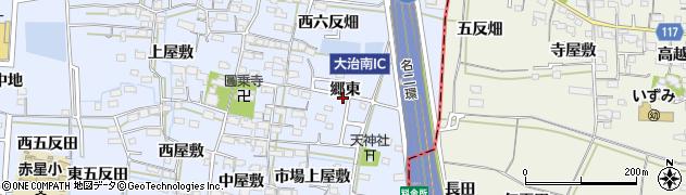 愛知県名古屋市中川区富田町大字千音寺(郷東)周辺の地図