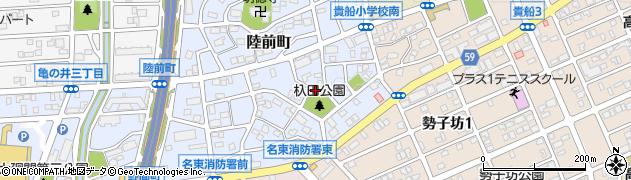 愛知県名古屋市名東区陸前町周辺の地図