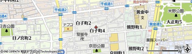 愛知県名古屋市中村区白子町周辺の地図