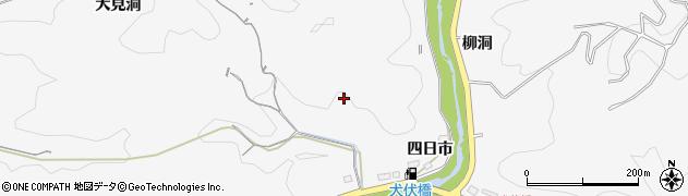 愛知県豊田市西広瀬町(四日市)周辺の地図