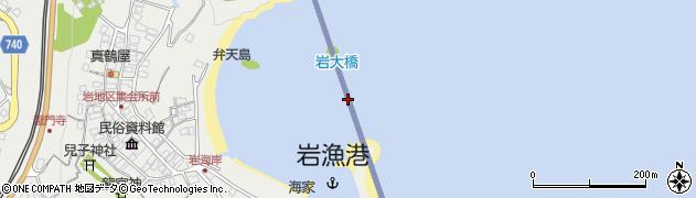 岩大橋周辺の地図