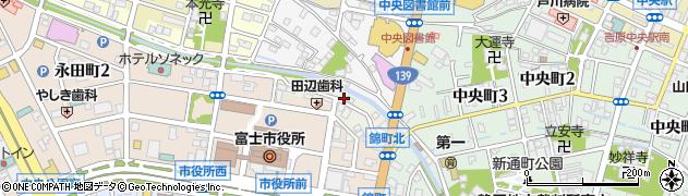 静岡県富士市依田原新田周辺の地図