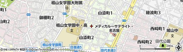 愛知県名古屋市千種区山添町周辺の地図