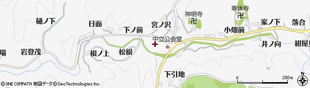 愛知県豊田市中立町(丸見)周辺の地図