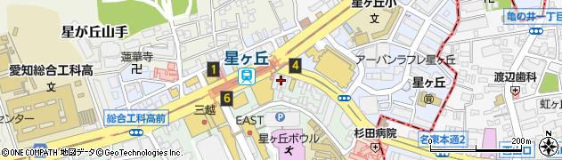 カーヴ隠れや 星ヶ丘店周辺の地図