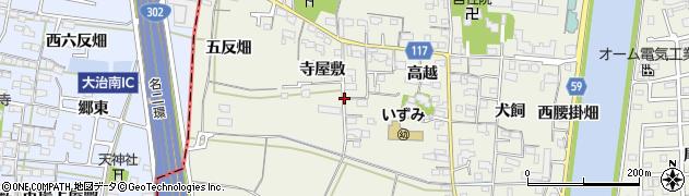 愛知県大治町(海部郡)砂子(寺屋敷)周辺の地図