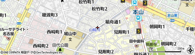 愛知県名古屋市千種区稲舟通周辺の地図