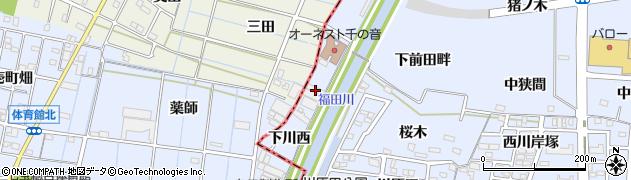 愛知県名古屋市中川区富田町大字千音寺(下川西)周辺の地図