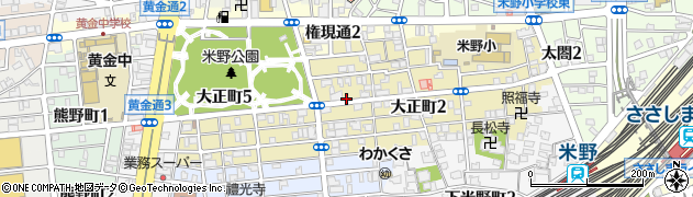 愛知県名古屋市中村区大正町周辺の地図