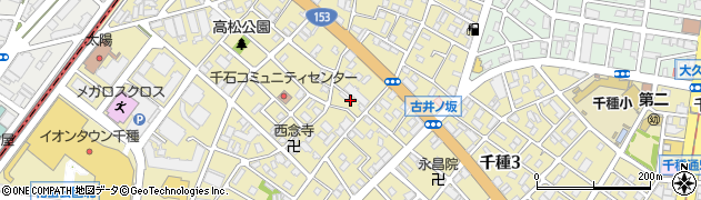 愛知県名古屋市千種区千種周辺の地図