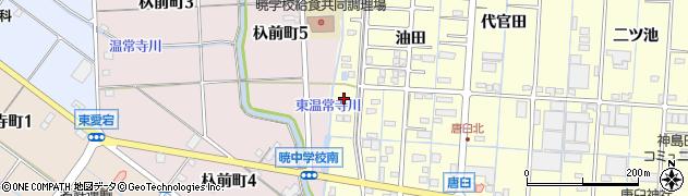 愛知県津島市唐臼町(囲外)周辺の地図