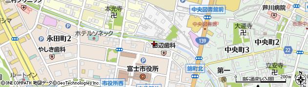 静岡県富士市永田周辺の地図