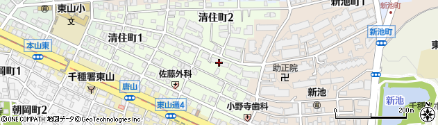 東山ハウス周辺の地図