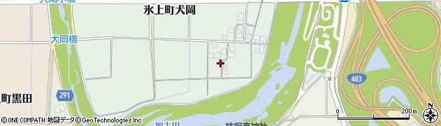 兵庫県丹波市氷上町犬岡周辺の地図