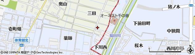 愛知県あま市七宝町桂(三田)周辺の地図