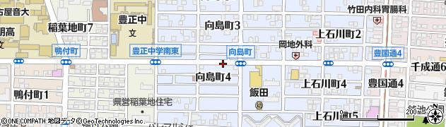 愛知県名古屋市中村区向島町周辺の地図