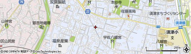静岡県富士市中里周辺の地図