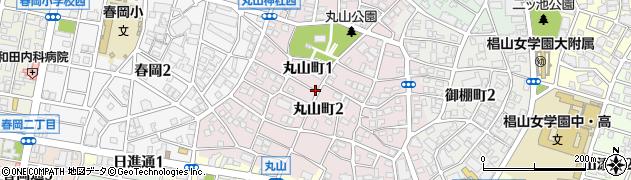 愛知県名古屋市千種区丸山町周辺の地図
