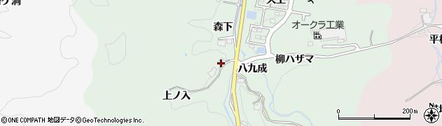 愛知県豊田市大蔵町(上ノ入)周辺の地図