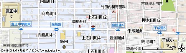 愛知県名古屋市中村区上石川町周辺の地図