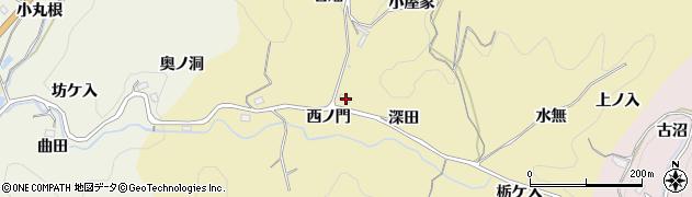愛知県豊田市永野町(西ノ門)周辺の地図