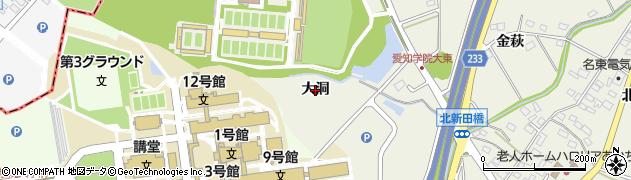 愛知県日進市北新町(大洞)周辺の地図