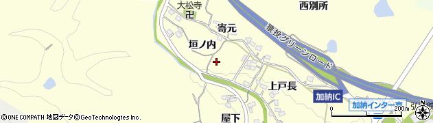 愛知県豊田市加納町(垣ノ内)周辺の地図