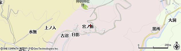 愛知県豊田市玉野町(宮ノ前)周辺の地図