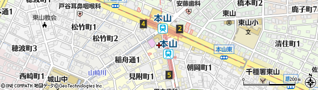 STAND.BY.ME本山店周辺の地図