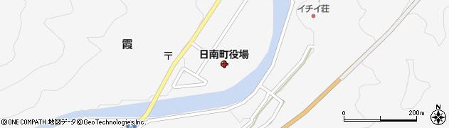 鳥取県日野郡日南町周辺の地図