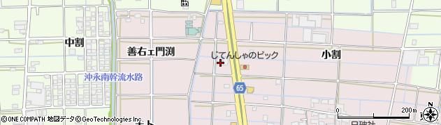 愛知県津島市大坪町(折戸)周辺の地図