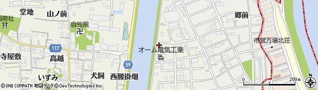 愛知県大治町(海部郡)砂子(東腰掛畑)周辺の地図