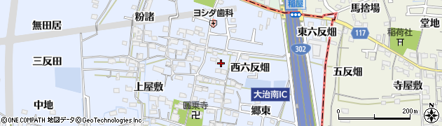 愛知県名古屋市中川区富田町大字千音寺(西六反畑)周辺の地図