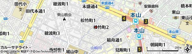 愛知県名古屋市千種区松竹町周辺の地図