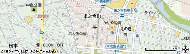 静岡県富士市米之宮町周辺の地図