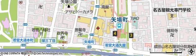 パルコ西館B1F フルーツハウス周辺の地図