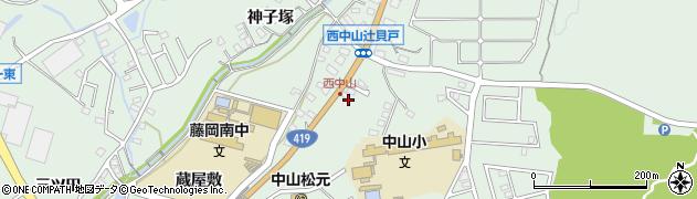 愛知県豊田市西中山町(蔵屋敷)周辺の地図