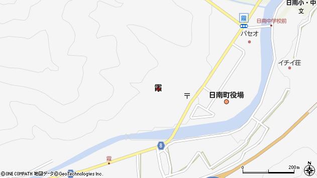 〒689-5212 鳥取県日野郡日南町霞の地図