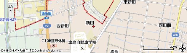 愛知県愛西市内佐屋町(新田)周辺の地図