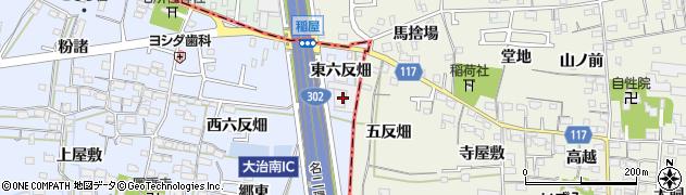 愛知県名古屋市中川区富田町大字千音寺(東六反畑)周辺の地図