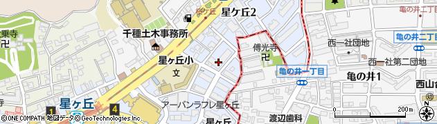 愛知県名古屋市千種区星ケ丘周辺の地図