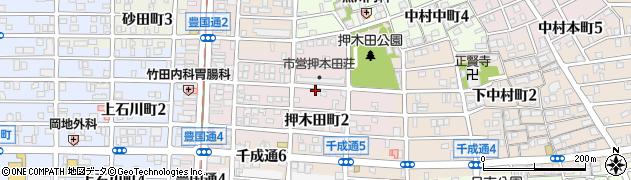 愛知県名古屋市中村区押木田町周辺の地図