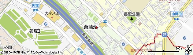 愛知県長久手市菖蒲池周辺の地図