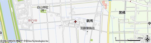 愛知県津島市百町(新所)周辺の地図
