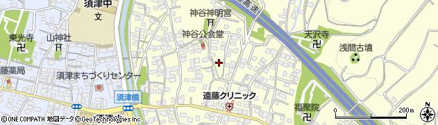 静岡県富士市神谷周辺の地図