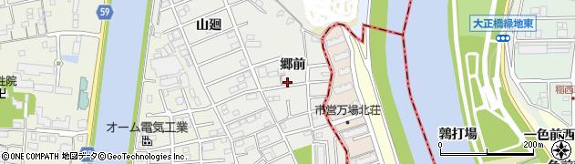 愛知県大治町(海部郡)鎌須賀(郷前)周辺の地図